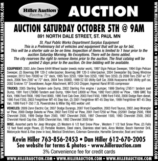 Auction Saturday October 5th
