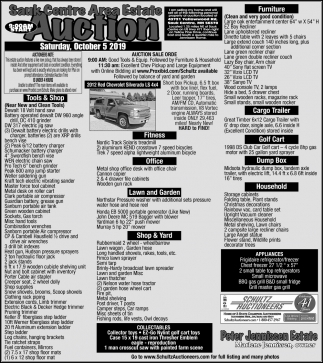 Sauk Centre Area Estate Auction