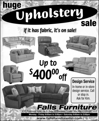 Huge Upholstery Sale