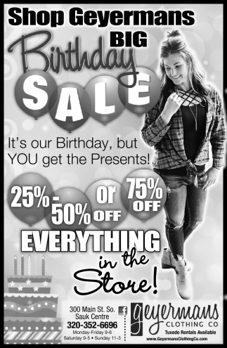 Shop Geyermans Big Birthday Sale