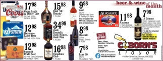 Beer & Wine of the Month