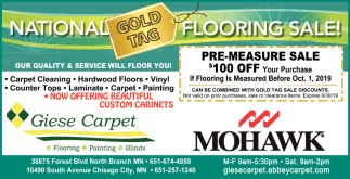 National Gold Tag Flooring Sale!