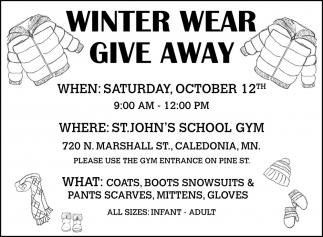 Winter Wear Give Away