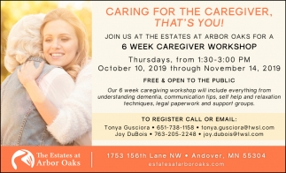 Caring for the Caregiver that's You!