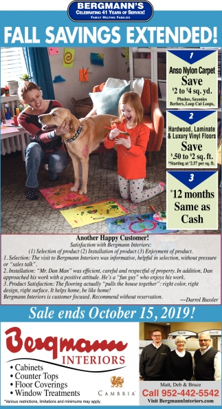 Fall Savings Extended!