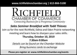 Sales Seminar Breakfast with Todd Thieves