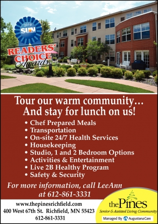 Tour Our Warm Community... and Stay for Lunch On Us!