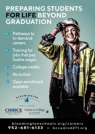 Preparing Students for Life Beyond Graduation
