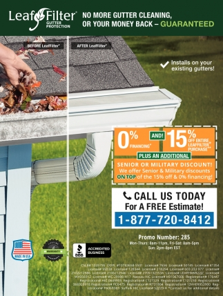 No More Gutter Cleaning, or Your Money Back - Guaranteed
