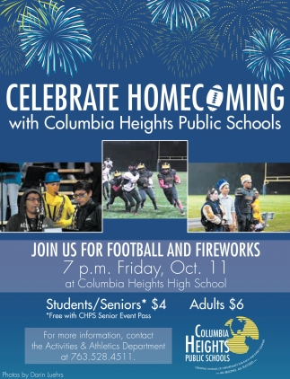 Celebrate Homecoming with Columbia Heights Public Schools