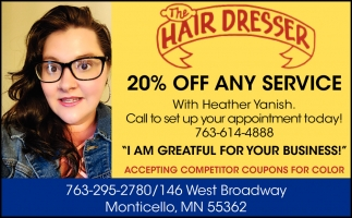 20% OFF Any Service