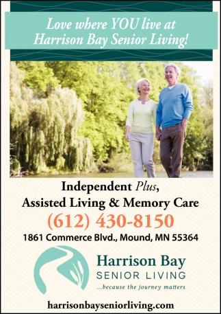 Love Where You Live at Harrison Bay Senior Living!