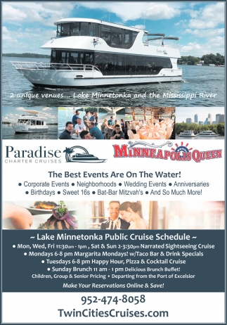 The Best Events are On the Water!