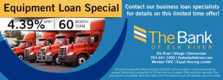 Equipment Loan Special