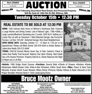 Auction Tuesday October 15th