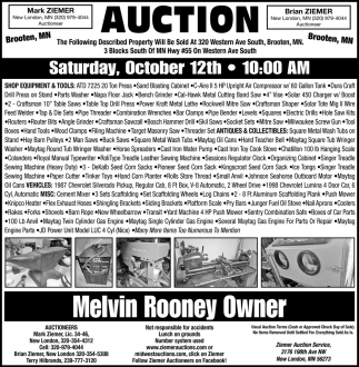 Auction Saturday, October 12th