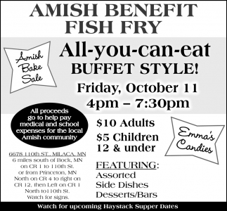 Amish Benefit Fish Fry