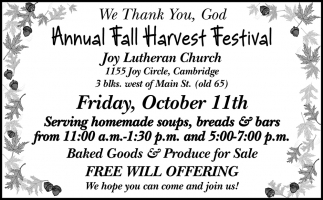Annual Fall Harvest Festival