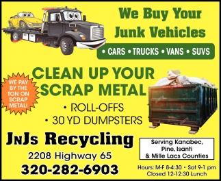 We Buy Your Junk Vehicles