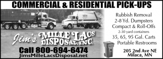 Commercial & Residential Pick-ups