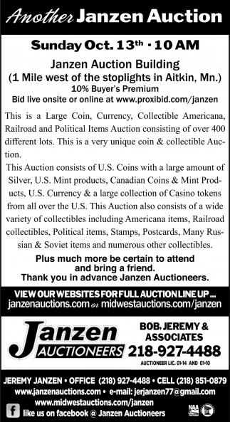 Another Janzen Auction