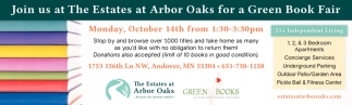 Join Us at The Estates at Arbor Oaks for a Green Book Fair