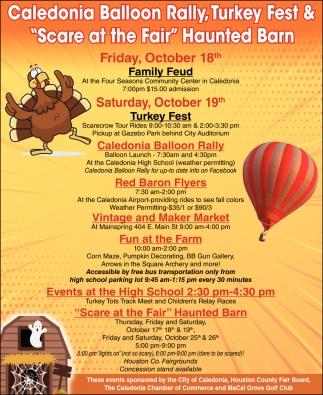 Caledonia Balloon Rally, Turkey Fest &