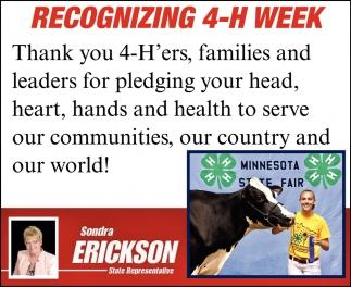 Recognizing 4-H Week