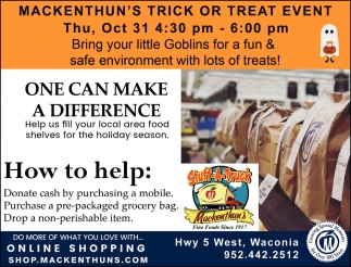 Mackenthun's Trick or Treat Event