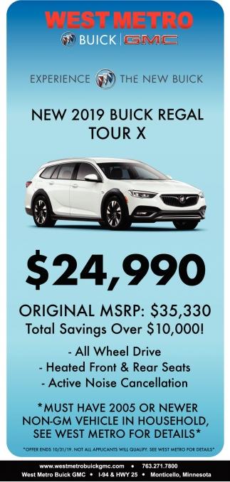 New 2019 Buick Regal Tour X