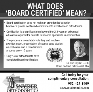 What Does 'Board Certified' Mean?