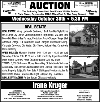 Auction Sunday Wednesday October 30th