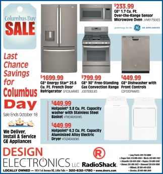 Last Chance Savings for Columbus Day