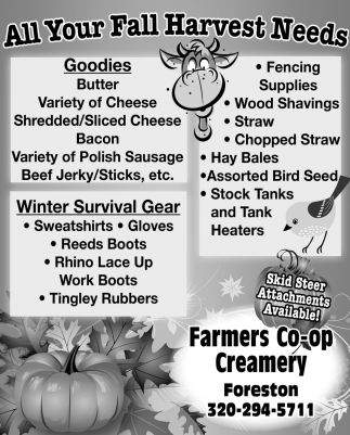 All Your Fall Harvest Needs