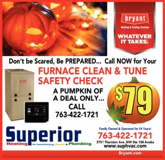 Furnace Clean & Tune Safety Check