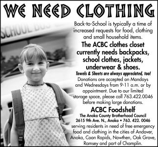 We Need Clothing