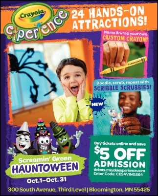 24 Hands-on Attractions!
