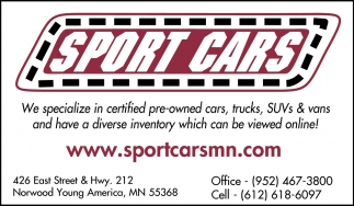 We Specialize in Certified Pre-Owned Cars