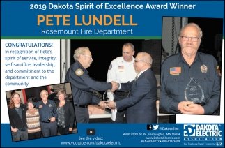 2019 Dakota Spirit of Excellence Award Winner