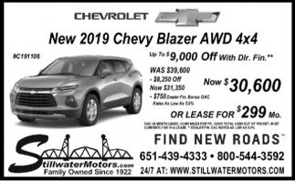 New 2019 Chevy Blazer AWD 4x4
