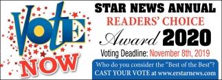 Star News Annual Readers' Choice Award 2020