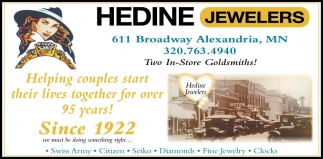Helping Couples Star their Lives Together for Over 95 Years!