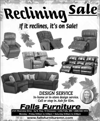 Reclining Sale