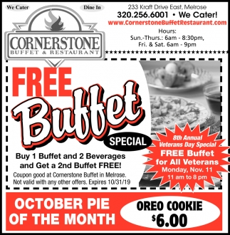 Free Buffet Special