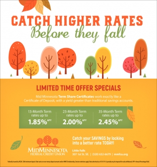 Catch Higher Rates Before they Fall