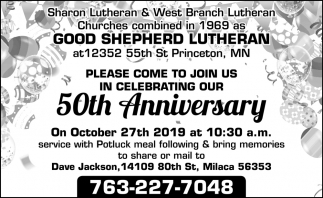 Please Come to Join Us in Celebrating Our 50th Anniversary