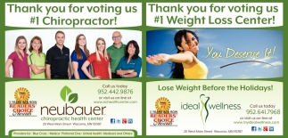 Thank You for Voting Us #1 Chiropractor!