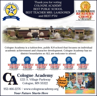 Thank You for Voting Cologne Academy Best Public School