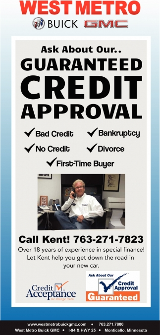 Ask About Our... Guaranteed Credit Approval