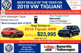 Best Deals of the Year On 2019 VW Tiguan!